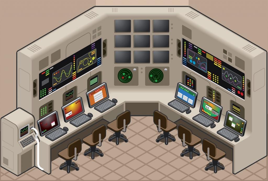 Bild: isometric control panel / shutterstock.com / 81255163
